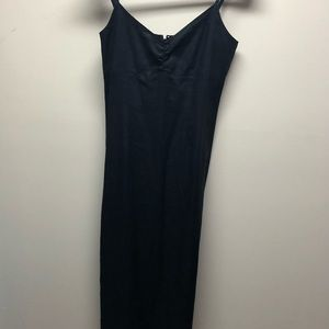 ✨OLD NAVY LONG BLACK LINEN DRESS SIZE 8
